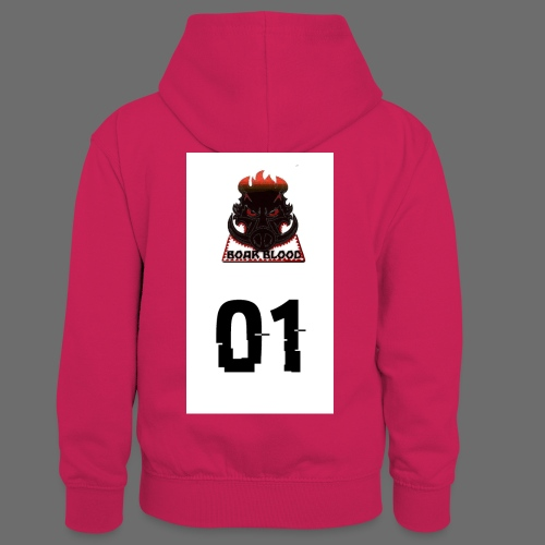 Boar blood 01 - Dziecięca bluza z kontrastowym kapturem