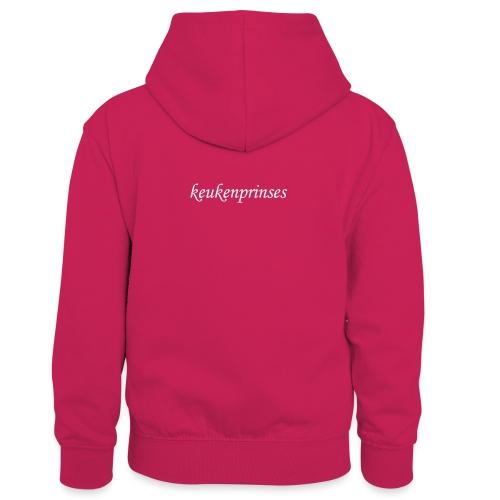 Keukenprinses1 - Teenager contrast-hoodie/kinderen contrast-hoodie