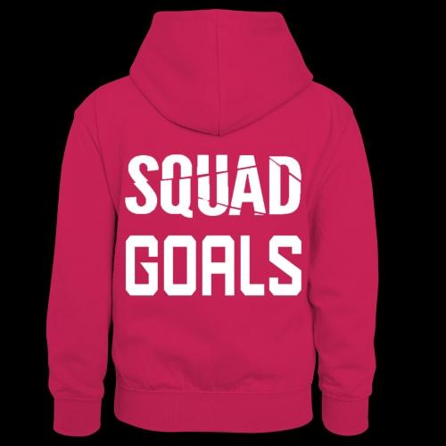 squad goals - Teenager contrast-hoodie/kinderen contrast-hoodie