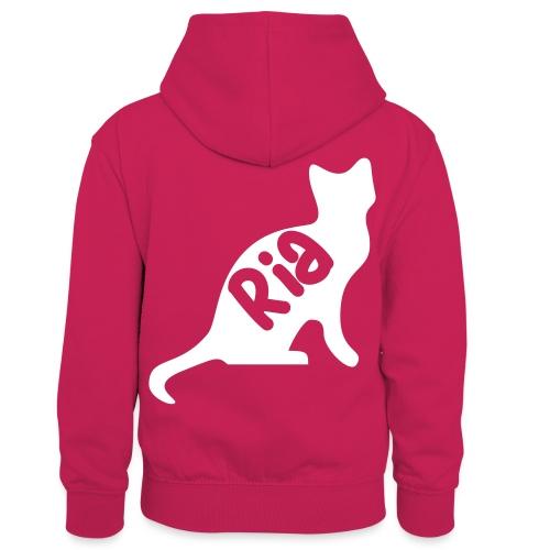 Team Ria Cat - Kids' Contrast Hoodie