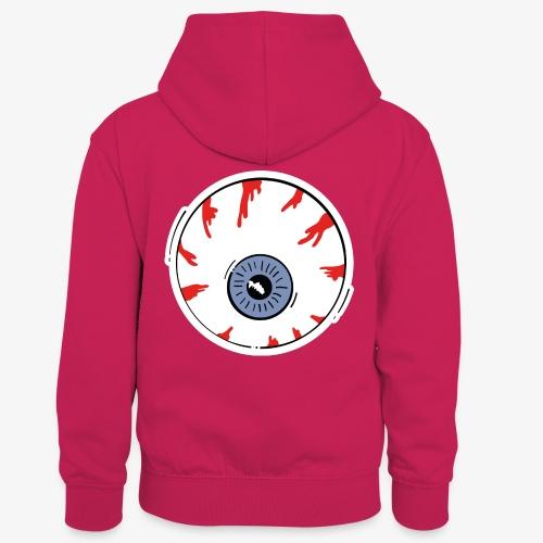 I keep an eye on you / Auge - Kinder Kontrast-Hoodie