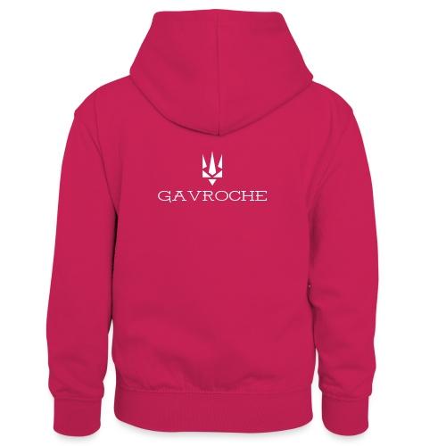 Gavroche - Kontrasthoodie børn