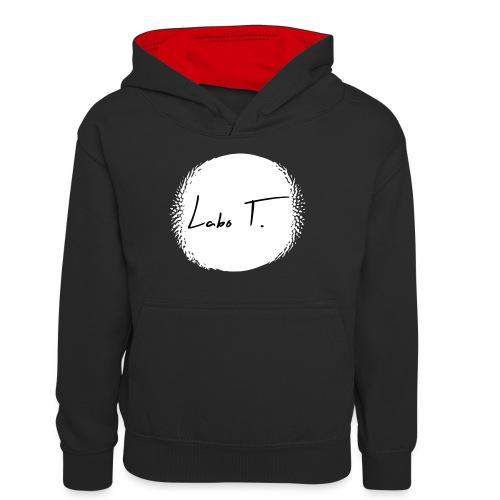 Labo T. - white - Sweat à capuche contrasté Ado