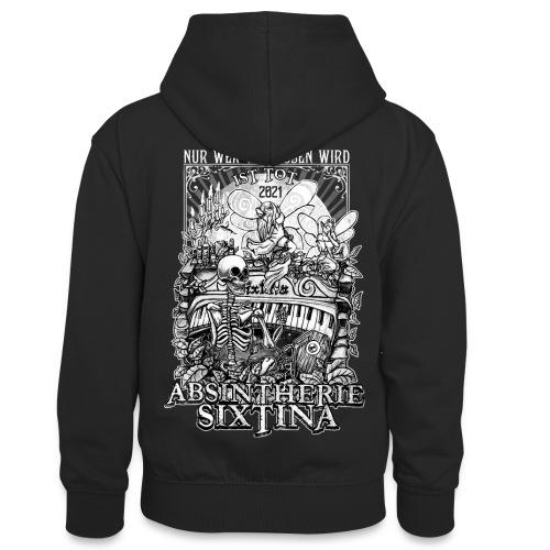 Absintherie Sixtina 2021 - Sixtina Support - Teenager Kontrast-Hoodie