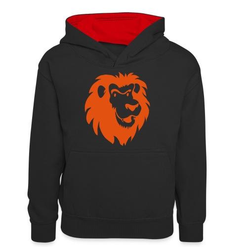 Leeuwenkop 1C - Teenager contrast-hoodie
