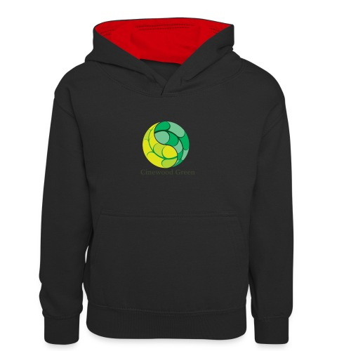 Cinewood Green - Teenager Contrast Hoodie