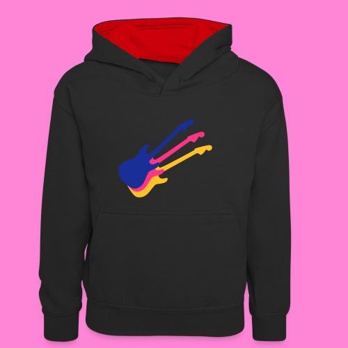 Good guitar black - Teenager contrast-hoodie