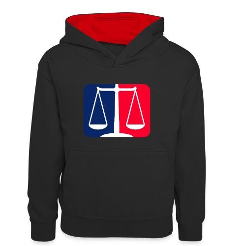 Logo2 - Teenager Kontrast-Hoodie