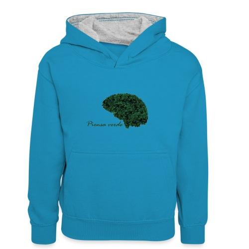 Piensa verde - Sudadera con capucha para adolescentes
