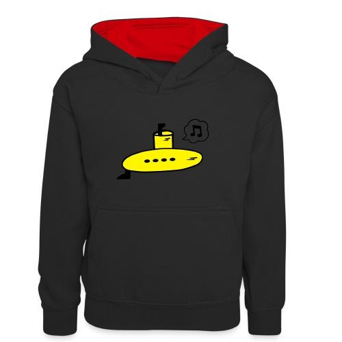 Singing Yellow Submarine - Teenager Contrast Hoodie