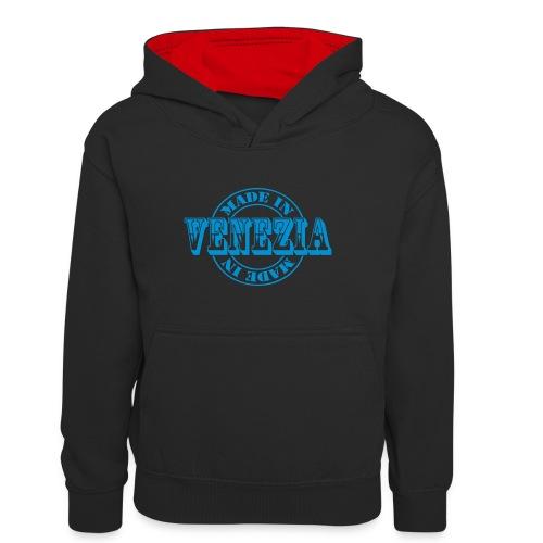 made in venezia m1k2 - Felpa con cappuccio in contrasto cromatico per ragazzi