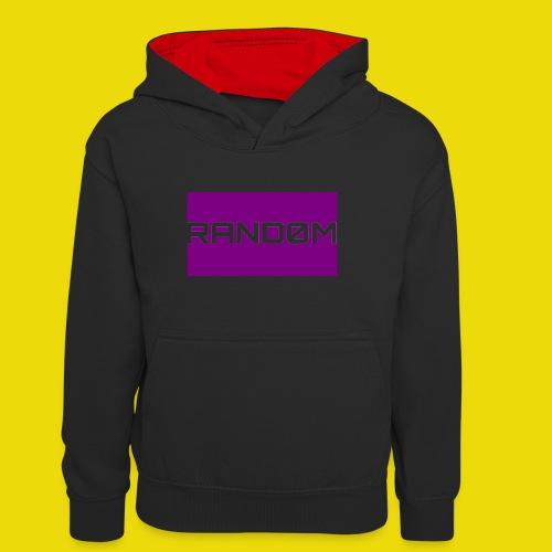 Random Logo - Teenager Contrast Hoodie