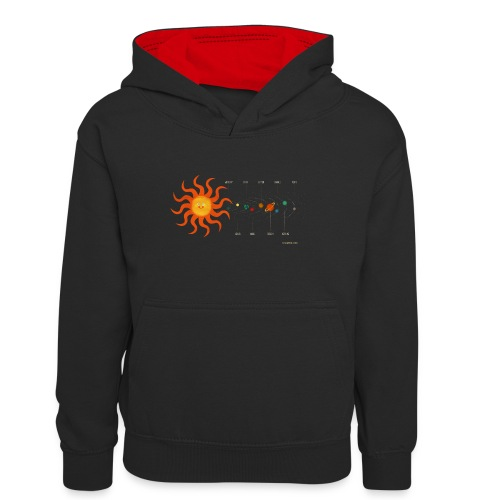 Solar System - Teenager Contrast Hoodie
