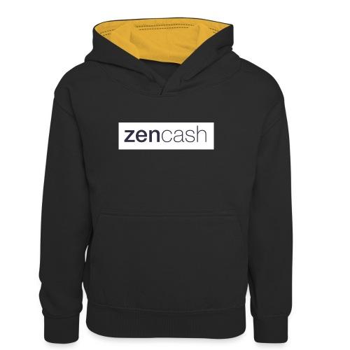 ZenCash CMYK_Horiz - Full - Teenager Contrast Hoodie