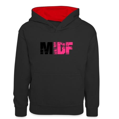 Logo MIDF 2 - Sweat à capuche contrasté Ado