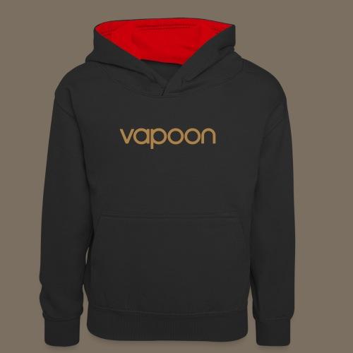 Vapoon Logo simpel 01 - Teenager Kontrast-Hoodie