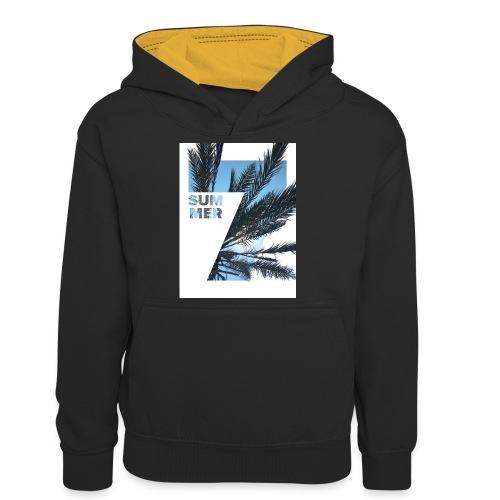 Summertime - Teenager contrast-hoodie