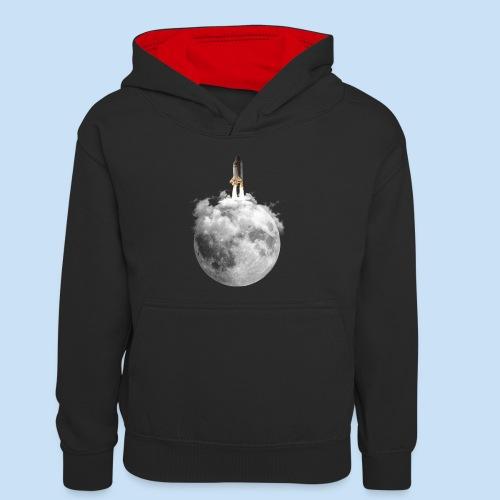 Mondrakete - Teenager Kontrast-Hoodie