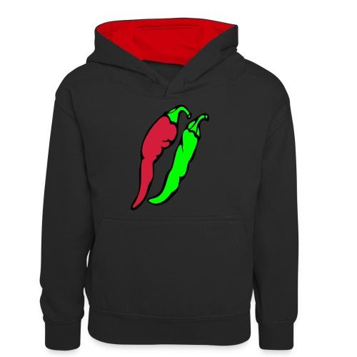 Chilli - Młodzieżowa bluza z kontrastowym kapturem