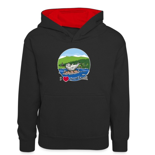 I heart Scotland - Sutherland & Caithness - Teenager Contrast Hoodie