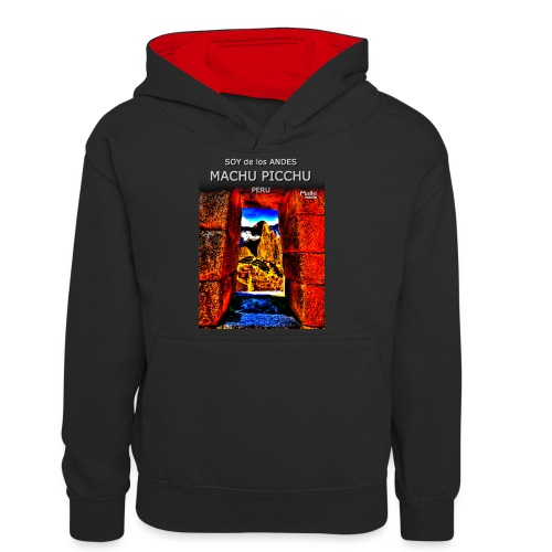 SOY de los ANDES - Machu Picchu II - Teenager Contrast Hoodie