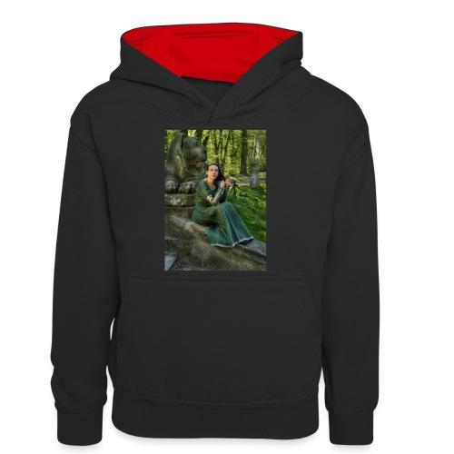 Stone Guardian - Młodzieżowa bluza z kontrastowym kapturem