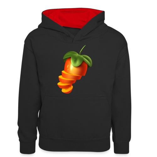 Sliced Sweaty Fruit - Teenager Contrast Hoodie