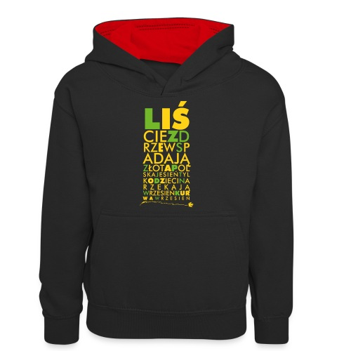 Wrzesień - Młodzieżowa bluza z kontrastowym kapturem