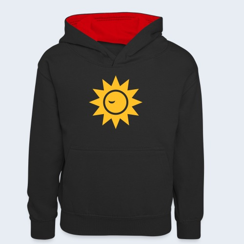 Winky Sun - Teenager contrast-hoodie