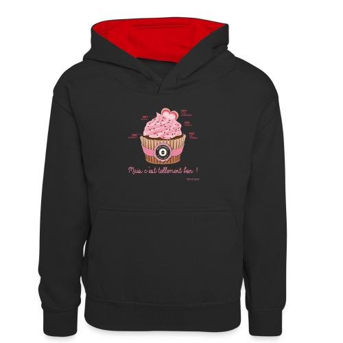cupcake rose 2 - Sweat à capuche contrasté Ado