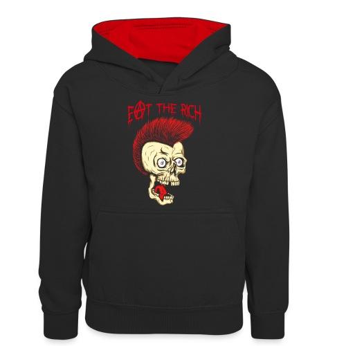 Eat The Rich (For Dark Shirts) - Teenager Kontrast-Hoodie