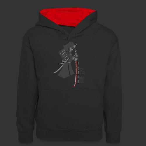 Samurai Digital Print - Teenager Contrast Hoodie
