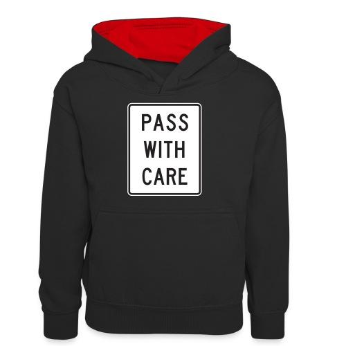 Voorzichtig passeren - Teenager contrast-hoodie