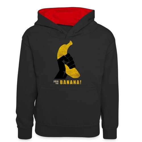 Join the Banana ! Wankil - Sweat à capuche contrasté Ado