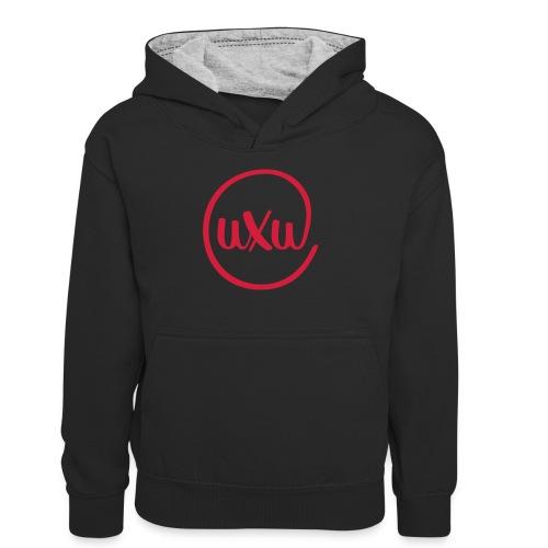 UXU logo round - Teenager Contrast Hoodie