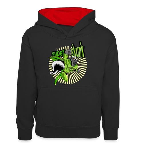 Cannabis ganja marijuana super skunk - Felpa con cappuccio in contrasto cromatico per ragazzi