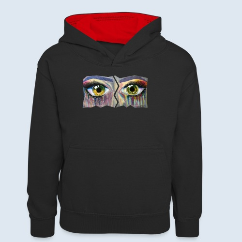 Open Eyes Berlin PopArt ickeshop BachBilder - Teenager Kontrast-Hoodie