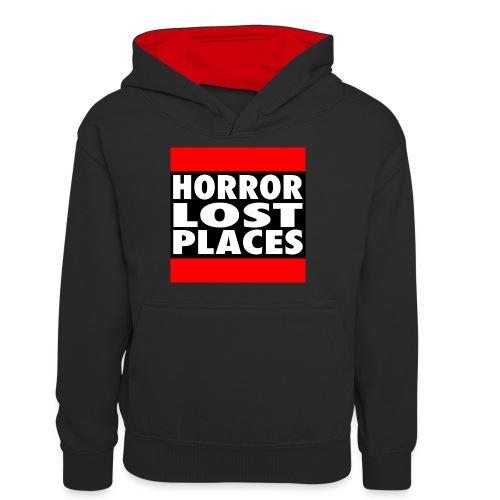 Horror Lost Places - Teenager Kontrast-Hoodie