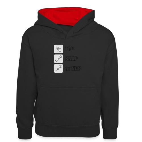 tap snap or nap - Młodzieżowa bluza z kontrastowym kapturem