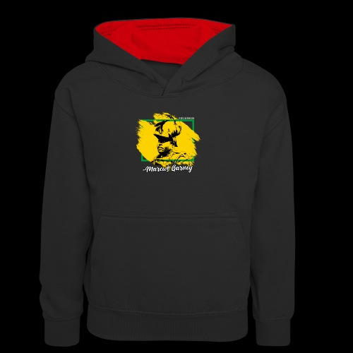 MARCUS GARVEY by Reggae-Clothing.com - Teenager Kontrast-Hoodie