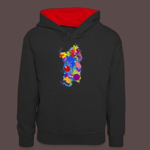 Sardegna Silhouette Paint - Felpa con cappuccio in contrasto cromatico per ragazzi