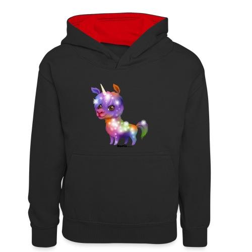 Llamakorn - Młodzieżowa bluza z kontrastowym kapturem