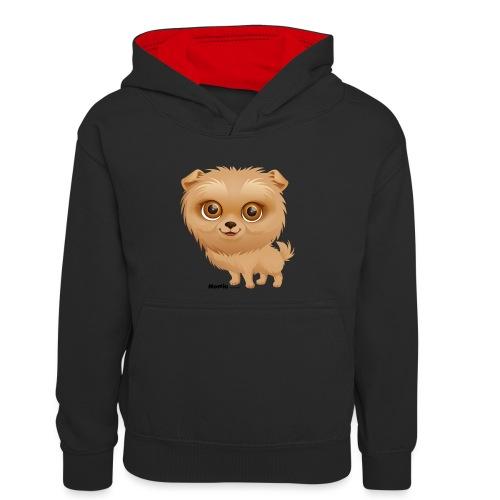 Dog - Młodzieżowa bluza z kontrastowym kapturem