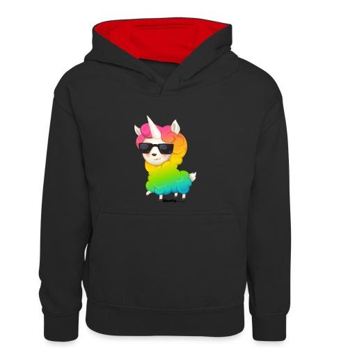 Rainbow animo - Kontrast-hettegenser for tenåringer