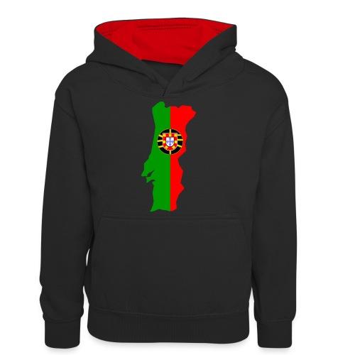 Portugal - Teenager contrast-hoodie