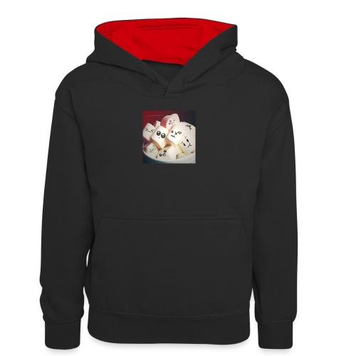 pianki - Młodzieżowa bluza z kontrastowym kapturem