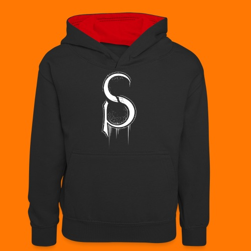 SCP-sign-WHITE transp - Teenager Contrast Hoodie