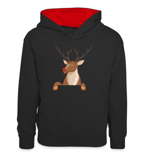 Caribou 6 - Sweat à capuche contrasté Ado