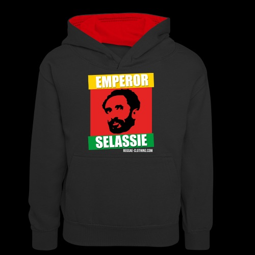 EMPORER SELASSIE red gold green - Teenager Kontrast-Hoodie