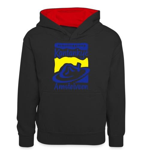 logo simpel 2 - Teenager contrast-hoodie